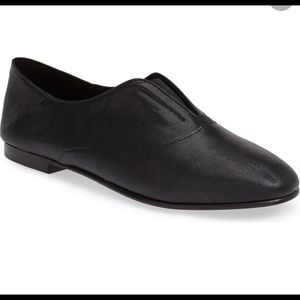 Eileen Fisher Black Polo Flat Loafers